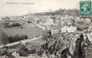 Le village, carte postale ancienne