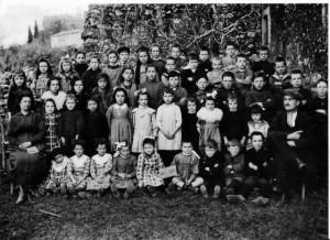 Photo de classe en 1920