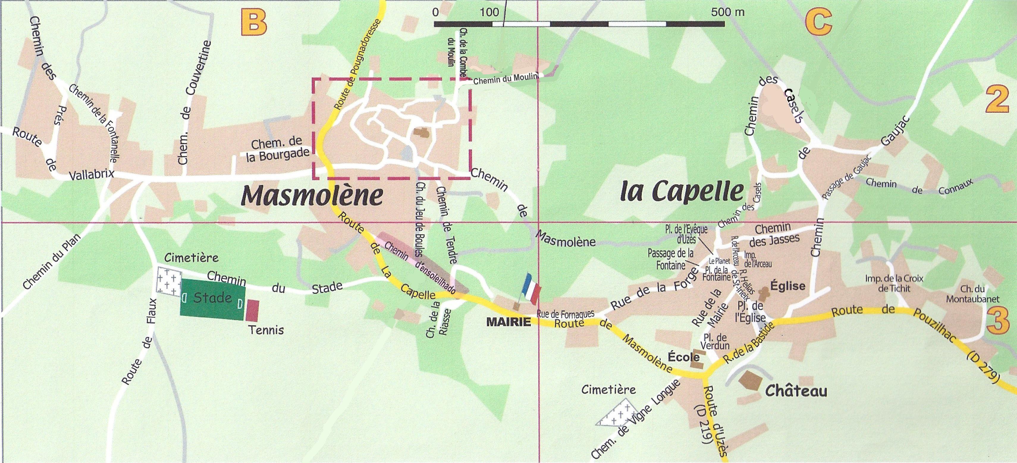 Masmolène La Capelle Plan